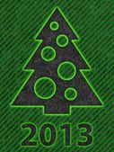 Simple Christmas Tree as Xmas Card — Stock Photo