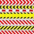 Set of Caution Tapes and Warning Signs, SEAMLESS Stripes — Stockfoto
