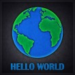 Hello World Concept Design Card — Stock Photo #13301738