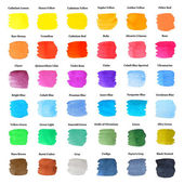Set of Colorful Strokes as Watercolor Palette — Stock Photo