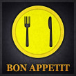 Bon Appetit Concept Design Card — Stock Photo #13534588