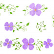 Set of Watercolor Floral Decor Elements as Patterns, Isolated on White — Stock Photo