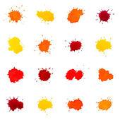 Set van aquarel abstracte spots, geïsoleerd op wit — Stockfoto