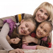 Stock Photo: Mother & Daughters - Happiness