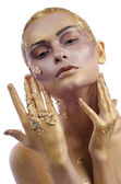 Bodypaint dorato — Foto Stock
