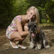 Woman with dog — Stock Photo #19875815