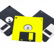 Three diskettes, floppy disks. — Stock Photo