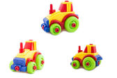 Set. Toy a plastic nursery, a tractor of bright shades. — Stock Photo