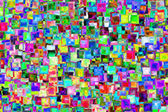 Raster abstraction from glass squares — Stock Photo