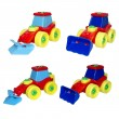 Set of toys, city machines for cleaning. — Stock Photo #14856865