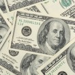 Close up hundred dollars bank notes background — Stock Photo