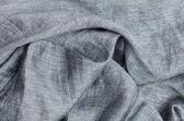 Cerrar el fondo gris lino arrugado — Foto de Stock