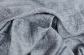 Close up gray crumpled linen background — 图库照片