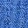 Close up blue linen texture background — Stock Photo