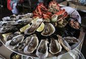 Big plate of seafood — Stock Photo