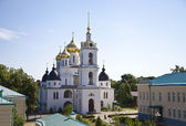 Russian church. Uspensky cathedral in Dmitrov. Horizontal view — Stock Photo