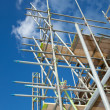 Scaffolding on a building site — Stock Photo #15883503