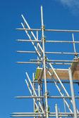 İnşaat alanında yapı iskelesi — Stok fotoğraf