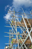 Scaffolding on a building site — Стоковое фото