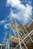 Scaffolding on a building site — Stok fotoğraf