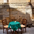 Table for two romantic setting - Stock Photo