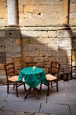 Table for two romantic setting — Stok fotoğraf