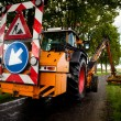 Road work in progress - Lizenzfreies Foto