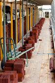 Bricks ready for bricklayer — Stock Photo