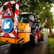 Road work in progress - Stockfoto