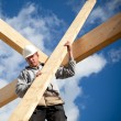 Authentic construction worker - Stock Photo