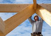 äkta byggnadsarbetare — Stockfoto
