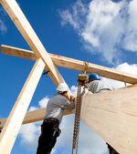 Trabajadores de la construcción auténtica — Foto de Stock