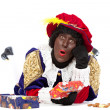 Zwarte piet (black pete) — Stock Photo #21723035