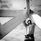 Trabalhador da construção real — Foto Stock