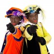 Zwarte pieten  (black pete) — Stock Photo