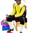 Zwarte piet sinterklaas (black pete) — Stock Photo