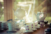 Vintage tea set — Stock Photo