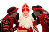 Zwarte Pieten shouting to sinterklaas — Stock Photo