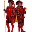 Two zwarte pieten (black pete) — Stock Photo #47010169