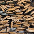 Stack of old firewood — ストック写真