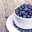 Fresh blueberries in a bowl — 图库照片