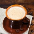 Brown cup of coffee — Stock Photo