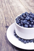 Fresh blueberries in a bowl — Stock Photo