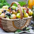 Various fruit in autumn harvest festival — Stok fotoğraf