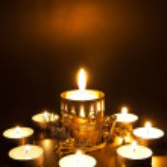 Closeup of burning candles — Stock Photo #14101561