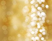 три красивые золотые елочные шары — Стоковое фото