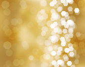 Three beautiful golden christmas balls — Foto Stock