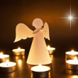 Christmas angel with candles — Stock fotografie