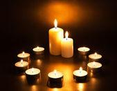 Burning candles — Zdjęcie stockowe