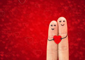 Happy couple in love — Stockfoto